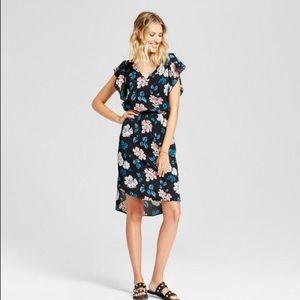 [MERONA] Flutter-sleeve Floral Dress